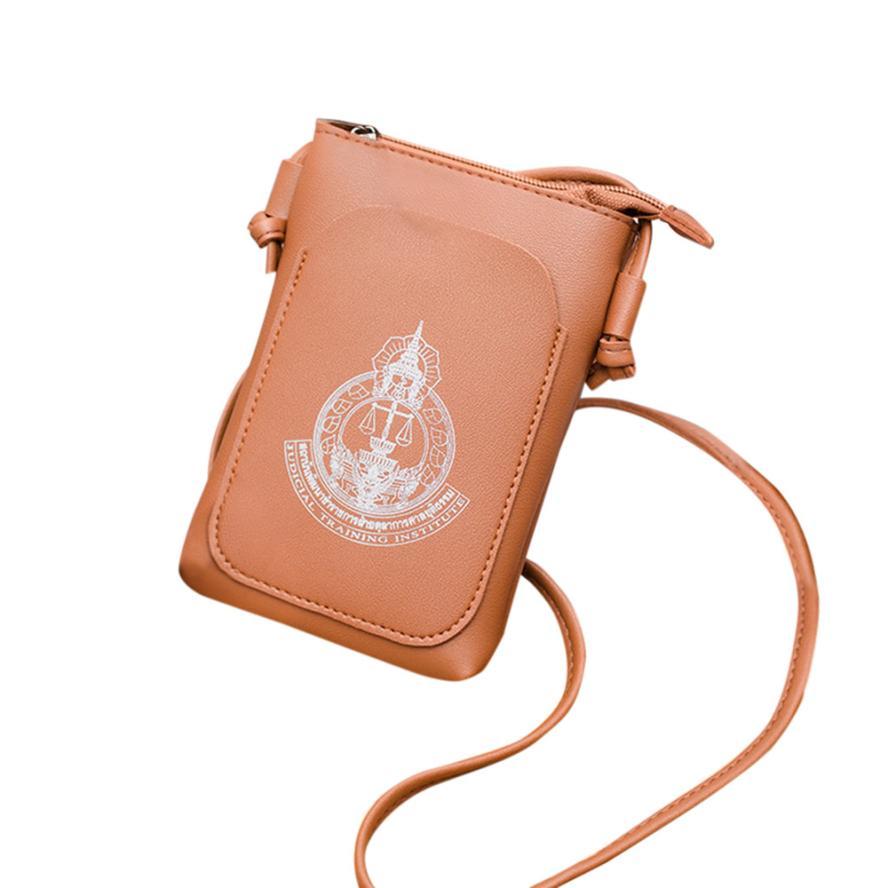 Модные женские Искусственная кожа тиснением сумка женская сплошной цвет молнии площадь сумка # F