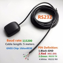 DIY connector RS232 output protocol baud rate: 15200 gps glonass GNSS GPS receiver  Operating voltage: 5V