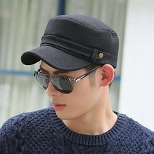 XdanqinX Adult Mens Warm Hat Winter Fashion Woolen Baseball Caps With Earmuffs Flat Cap Male Bone Adjustable Size Brand Hats