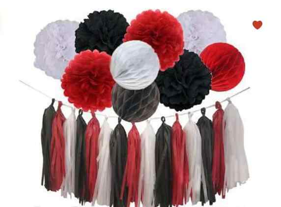 Detail Feedback Questions About 12pcs Red Black White Minnie Mouse