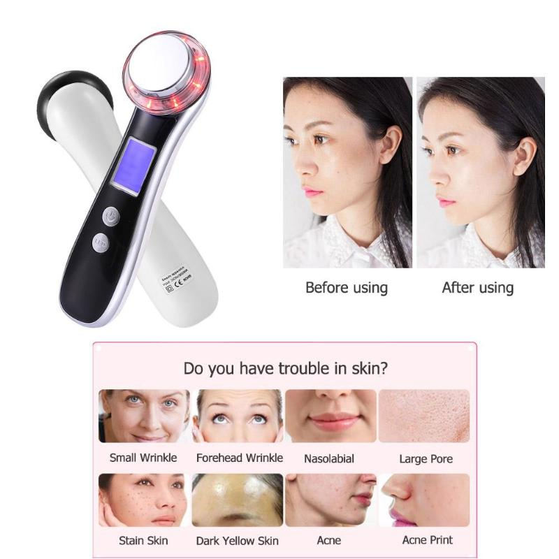 USB Facial Mesotherapy LED Photon Face Lifting Tighten Wrinkle Remover Skin Care Face MassagerUSB Facial Mesotherapy LED Photon Face Lifting Tighten Wrinkle Remover Skin Care Face Massager