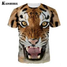 2017 New fashion t shirt men 3D tiger printed t-shirt men's casual baseball jersey streetwear couple funny t shirts