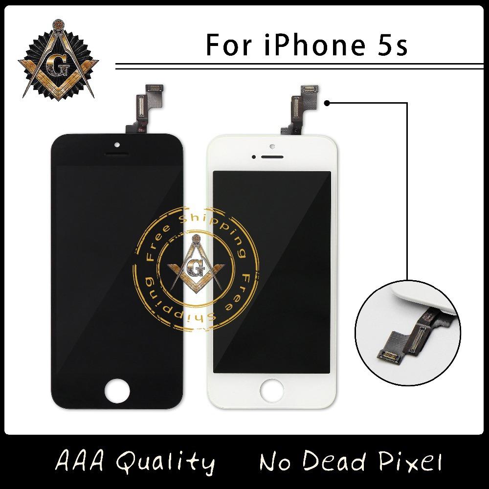 Prix pour 10 pcs/lote AAA qualité pas de Dead Pixel assemblée LCD pour iPhone 5S remplacement 100% testé livraison gratuite Via DHL