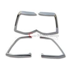 ABS Chrome Заднего Taill Свет Лампы Крышка Отделка 4 шт. Для Toyota Land Cruiser LC200 2012-2015 Автомобильные Аксессуары стиль!