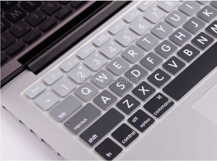 MacBook preprint KeyBoard Silicone Cover Skin For Apple 13 Black