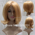 Best Wig HumanHair Light Auburn and blonde mixed 10 Inches hair wg (Free Shipping)