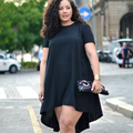 5XL Plus Size Summer Dress For Women Chiffon Party Dress Casual O-neck Sexy Loose Party Dresses New Vestidos Shirt Dress P20
