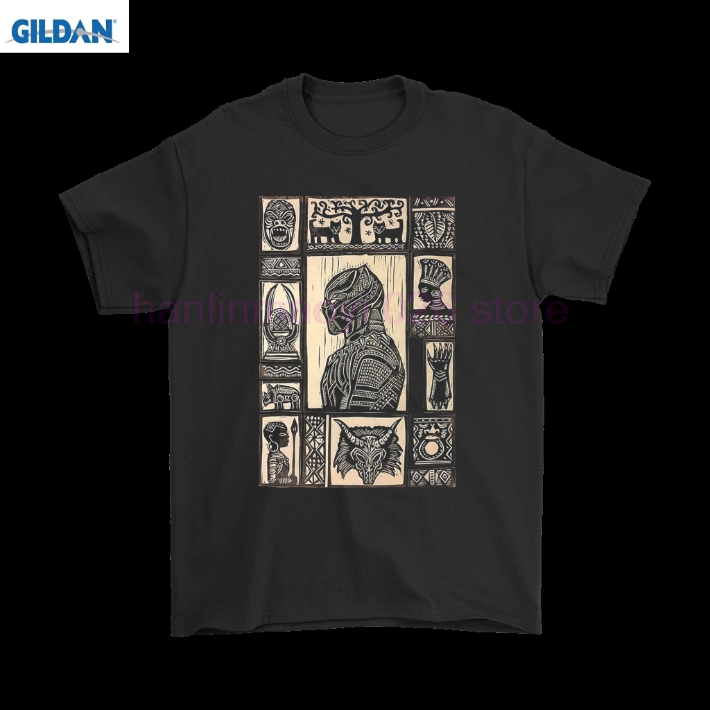 Gildan black panther wakanda african drawing shirts