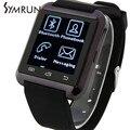 Symrun venta caliente y nuevo estilo smartwatch smart watch smartwatch teléfono soporte android y ios teléfono móvil barato