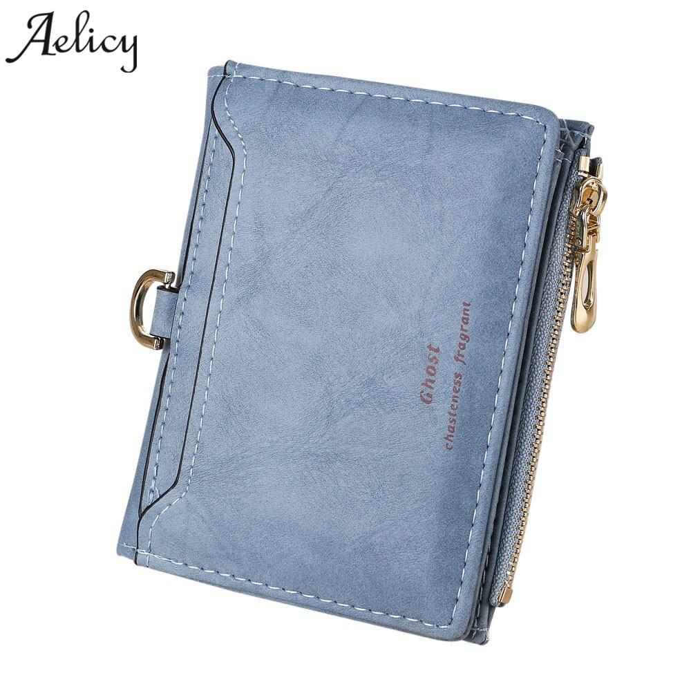 Aelicy Luxury 2018 Women Wallet Leather Female Short Card Ho