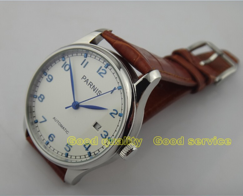 2015new fashion 43mm PARNIS Asian ST2530 automatic mechanical men s watch Casual watch