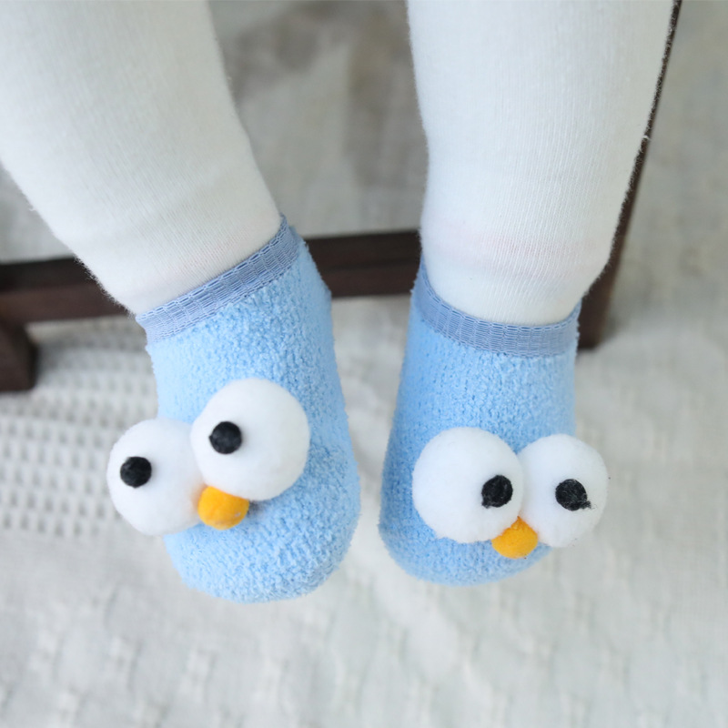 Cute New Eyes Baby New Year Baby Girls Boys Anti Slip Socks Slipper Boot Baby Girls Socks Newborn Soft Cute Rabbit Baby Socks in Socks from Mother Kids