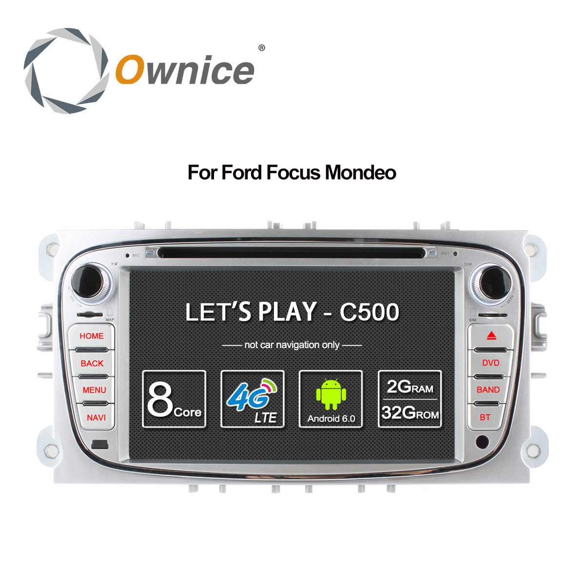 Ownice C500 4G LTE Android 6.0 Octa 8 Core Car DVD Player GPS For FORD Mondeo S-MAX Connect FOCUS 2 2008 2009 2010 2011 32G ROM joyous 7 touch screen android 4 2 dual core car dvd player w gps bt for ford focus focus 2