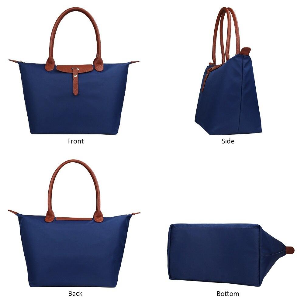 KONPAD Women Fashion Hobo Bag Large Tote Shoulder Handbag Light Weight Nylon  Tote Bag Handbag Travel Luggage Bags Beach Bags For Women 69540ed4c6