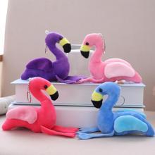 цена на 10 CM Cartoon Mini Pink Flamingo Plush Soft Keychain Small Pendant Filled Toy Bag Pendant Car Accessories Creative Birthday Gift