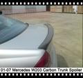 W203 Spoiler Traseiro Tronco Boot Asa De Fibra De Carbono Tampa Da Mala Caso para Mercedes Benz Classe C C180 C200 C230 C320 C240 C270 C32