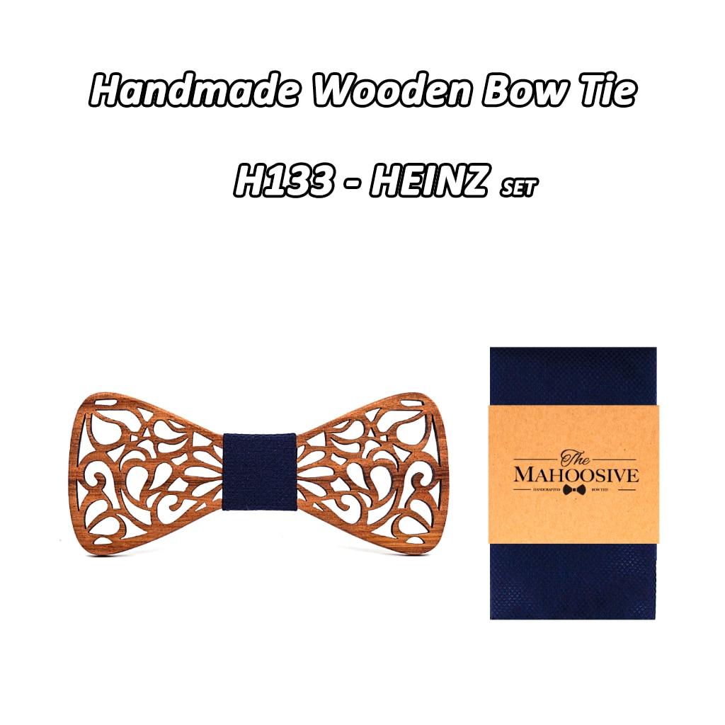 Mahoosive новый цветочный древесный галстуки-бабочки для мужской галстук-бабочка полые бабочки Свадебный костюм деревянная Бабочка рубашка