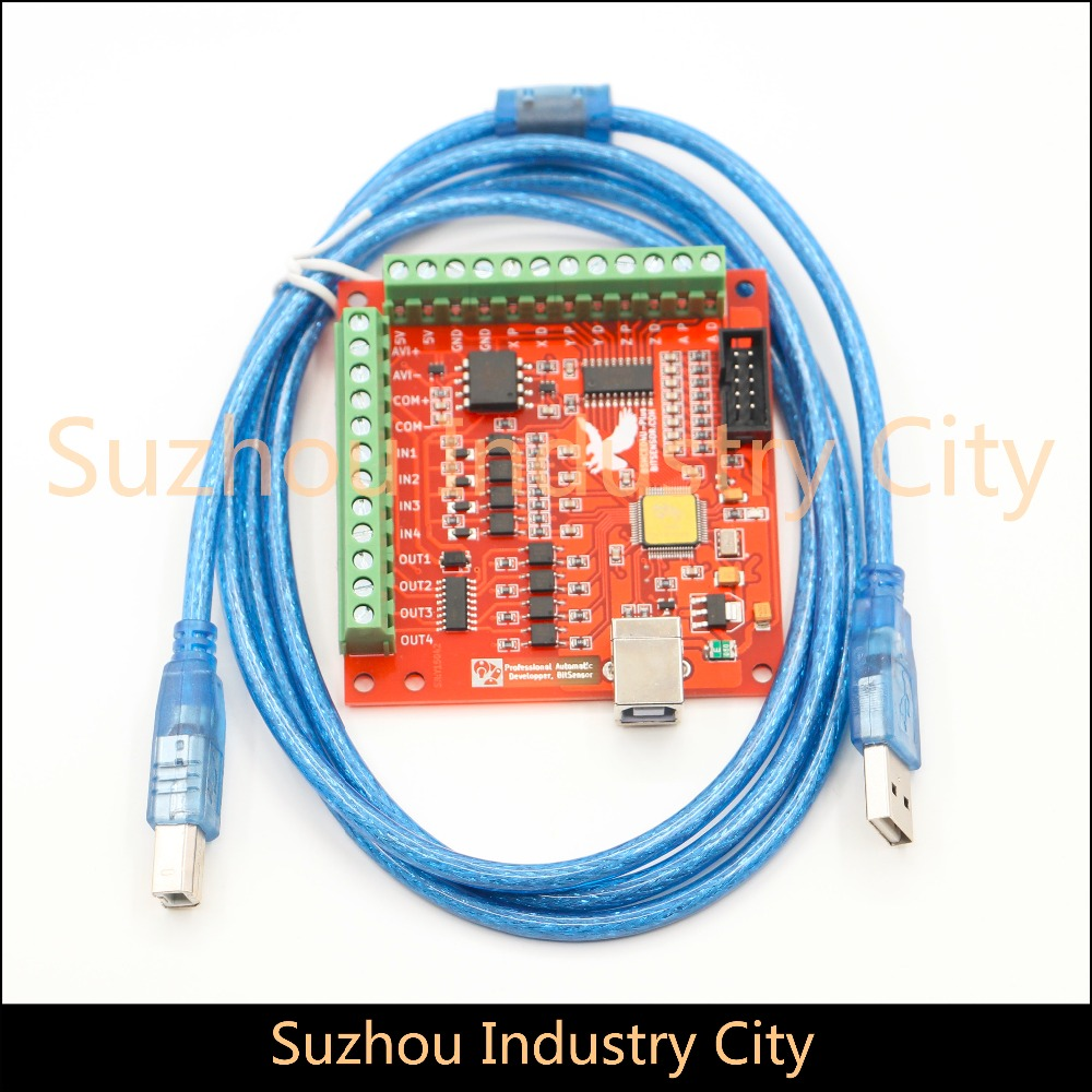 4 Axis USB Motion Controller  Interface Board  MACH3 system PWM control 100KHz , support Win XP,  Win 7,  Win 8 купить