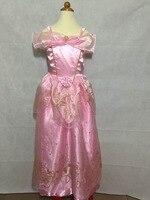 Fancy Maxi Blue Gold Purple Pink Princess Gown Beautiful Birthday Dresses Long Sleeping Beauty Princess Costumes