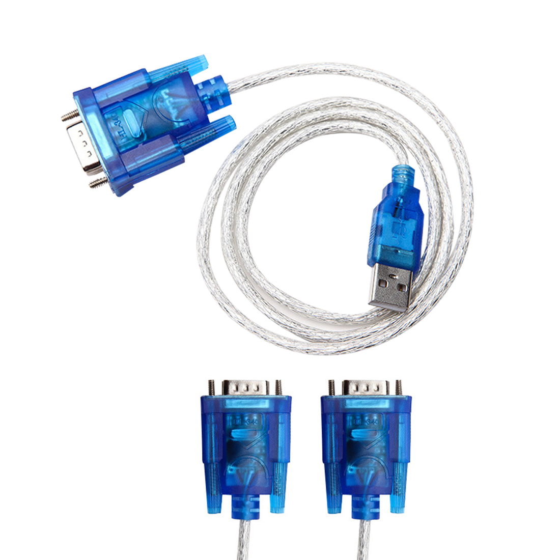 Marsnaska Hot Selling 1PC 80cm USB 2.0 to RS232 COM Port Serial PDA 9 pin DB9 Cable Male to Male M/M Adapter for PC PDA GPS new 1 5m serial rs232 9 pin male to female db9 9 pin pc converter extension cable