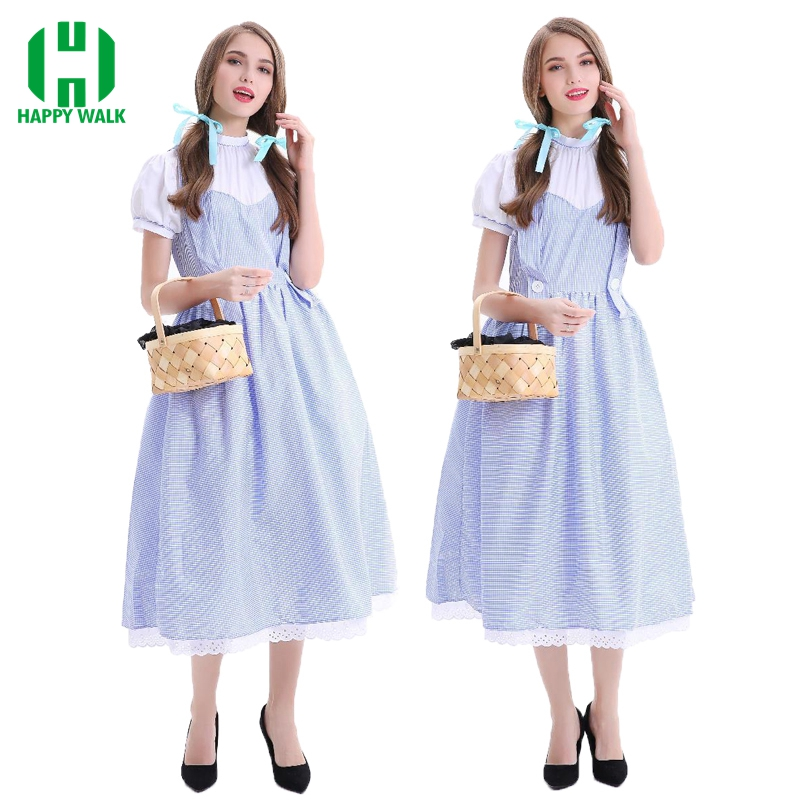 New Arrival The Wizard of OZ Dorothy Cosplay Costume Women Halloween Carnival Princess Costume Performance Fancy Party Dress