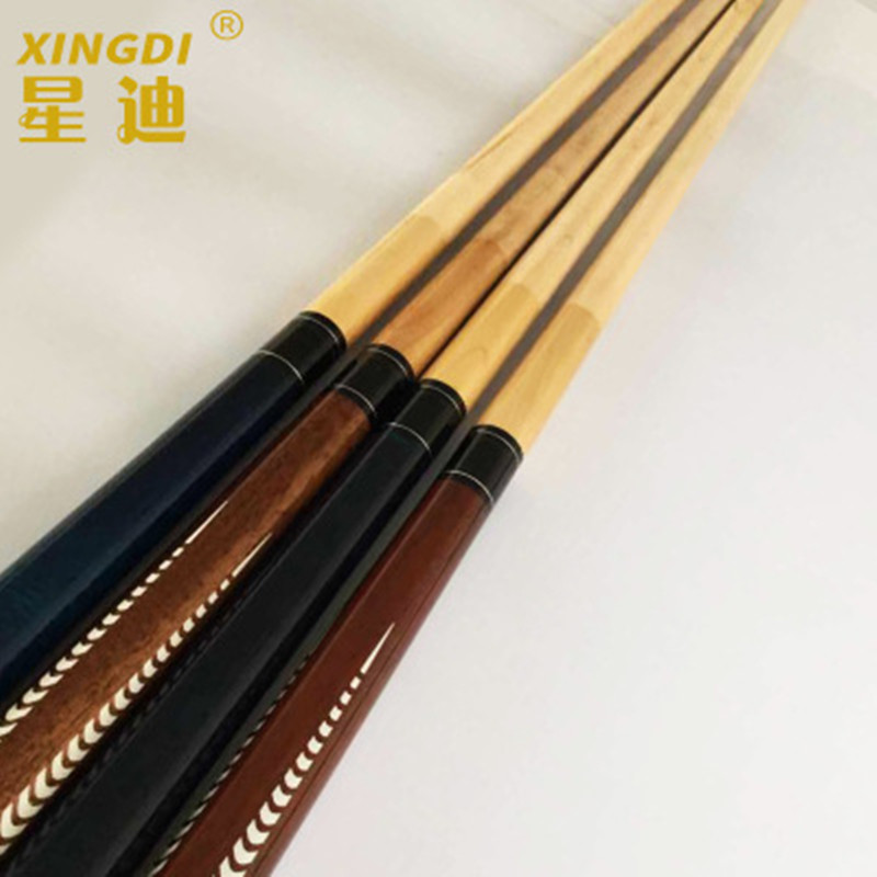 Billiard Cue Canadian Maple Wood 1/2 Jointed Pool Cues Stick 10.5mm/11.5mm/13mm Tips With Black Pool Cue Case China