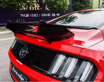 NEW  Carbon Fiber CAR REAR WING TRUNK LIP SPOILER FOR Ford Mustang 2015 2016 2017 2018 2019 (GT STYLE )