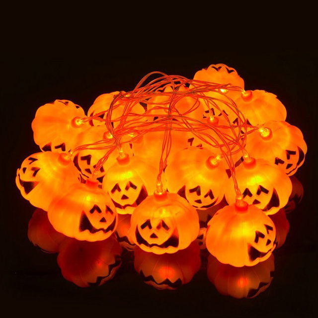 Versiering Halloween Pompoen.Us 10 9 Halloween Pompoen Light String Decoratie Led Ghost Festival Layout Props Lichtgevende Pompoen Lichtslingers Bar Mall Versierd In Halloween