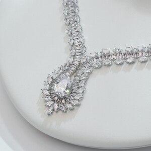 Image 3 - Hadiyana جديد الأميرة مجوهرات الزفاف مجموعة مع مخلب ترصيع مكعب الزركون عالية الجودة الزفاف قلادة مجوهرات 4 قطعة مجموعة BN7659