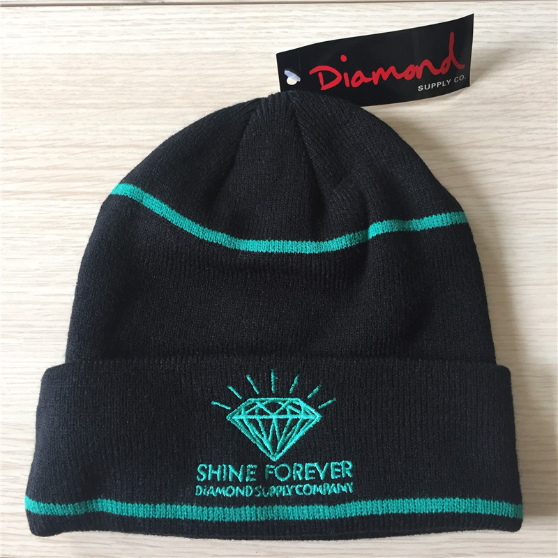 New Diamond Skateboard Caps Cotton Knitted Hat Cool Hip Pop Cap Elastic Men Women Cool Street Style Headgear ...