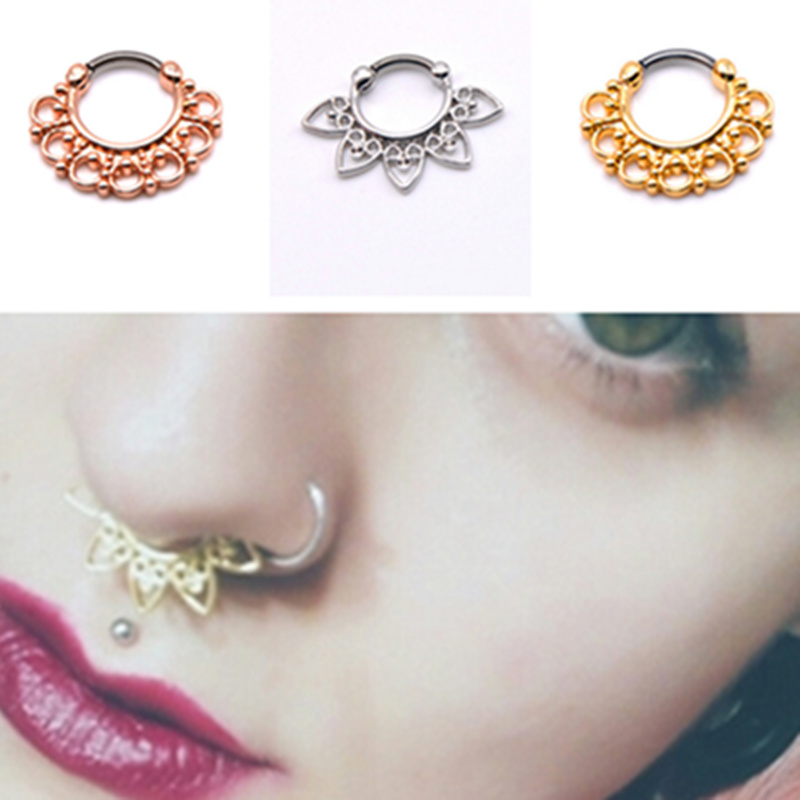 India Style Fashion Nose Jewelry Women Girls Nose Rings Hoops ...