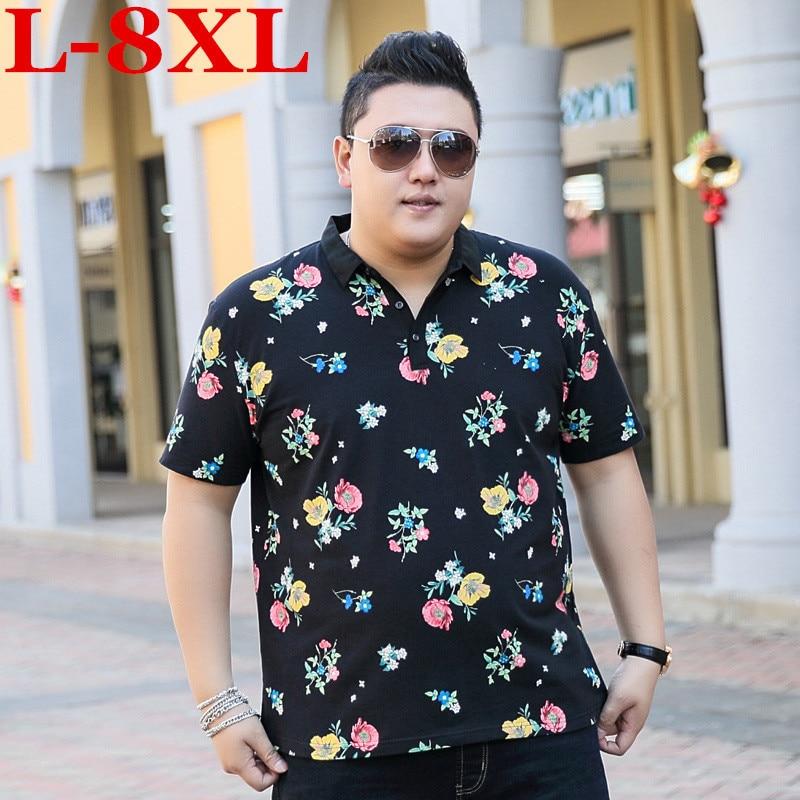Grande nouvelle grande taille 9XL 8XL 7XL 6XL 5XL mode hommes t-shirt ralphmen marque d'été coton palace revers manches courtes