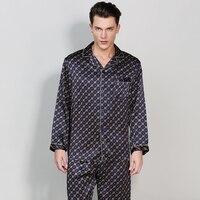 Men S Silk Pajama Sets2017 Plus Size Pajamas Man Silk Pajamas Sets Full Sleeve Sleepwear 2