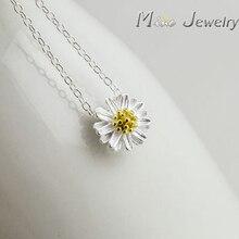 Free Transport 925 Sterling Silver Pendants&Necklaces Daisy Necklace Jewellery Collar Colar de Plata