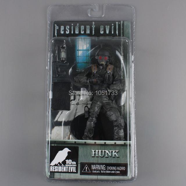"Frete grátis NECA 10th anniversary Hunk Resident Evil ARCHIVES SERIES 2 Action Figure 7 ""18 cm Novo na CAIXA MVFG054"