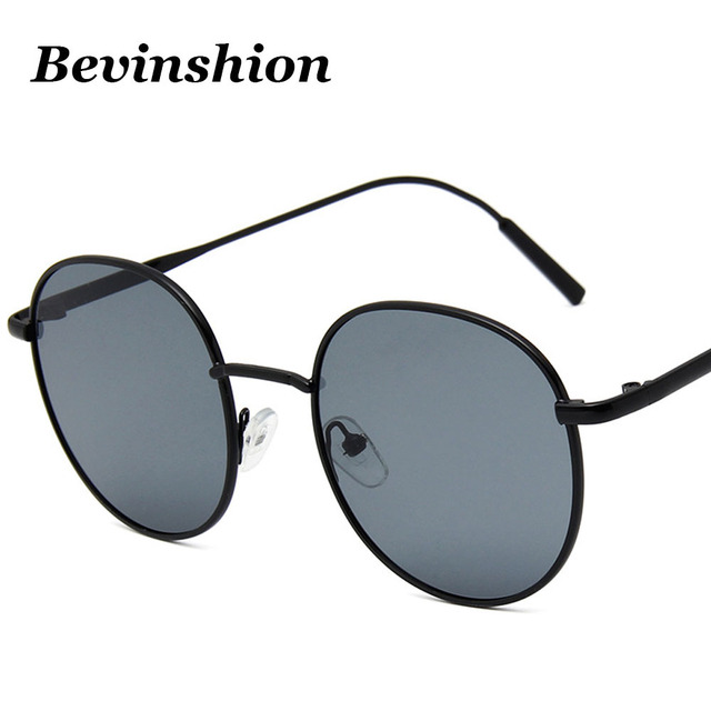 e38c8b4ec7cf Korean Sxey Cute Round Sunglasses Metal Frame Vintage Big Frame Sun Glasses  Female Red Yellow Glasses