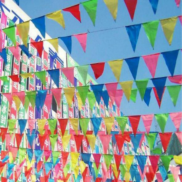 Fabric Hanging Flags /multicolour Banner/birthday Party Festival/Christmas  Outdoor Decor/ Felt