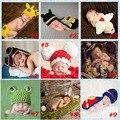 Tejer nuevo bebé foto Animal atrezzo Design cubierta del pañal Set para accesorios de fotografía recién nacido traje SG043