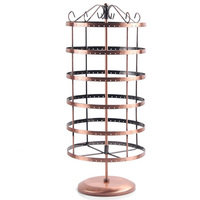 Free Shipping New 288 Holes Bronze Earrings Ear Studs Jewelry Display Rack Metal Stand Holder Showcase
