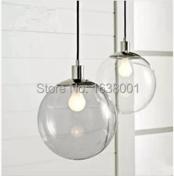 US $34.5 |moderno design minimalista modo trasparente lampadario in vetro  creativo personalità sferica bar ristorante camera singola testa lampade in  ...