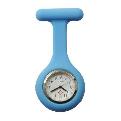 Купить с кэшбэком 2018 New Nurses Watches Doctor portable Pocket Fob Watch Brooches Silicone Tunic Batteries Medical Nurse Quartz Watch with Clip