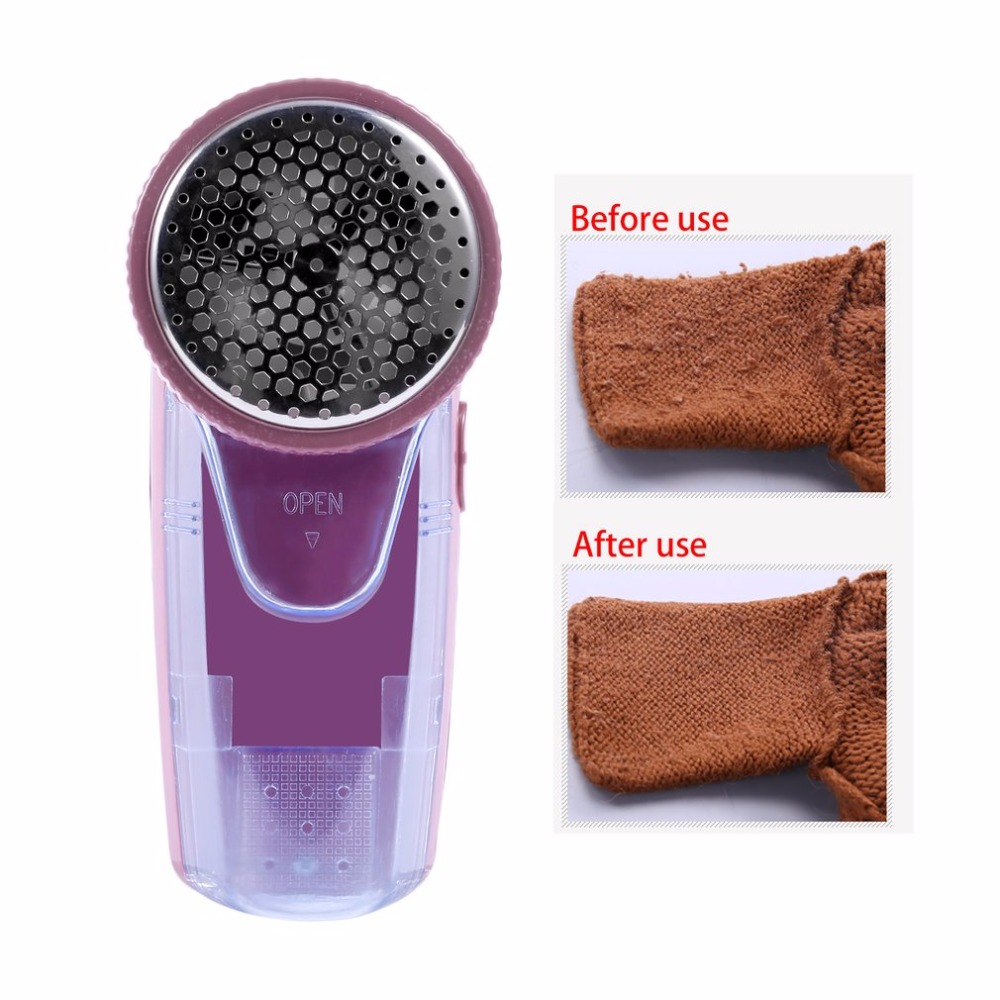 Portable Electric Clothing Pill Lint Remover Sweater Substances Shaver Machine Remove Pellets Compact 2 Batteries Lint Remover