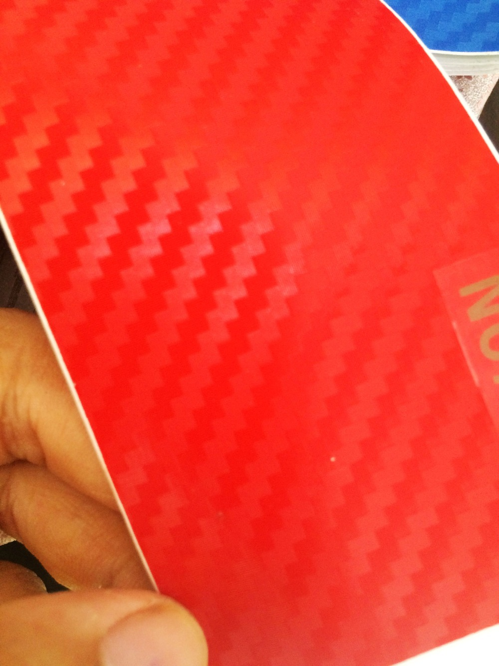 Big texture Red 3d carbon fiber vinyl Wrap like 3M carbon ...