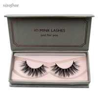 Visofree Natural Long Mink Eyelashes 1 pair 3D False Eyelashes Full Volume Mink Lashes Lightweight Soft Lashes Eyelash Extension