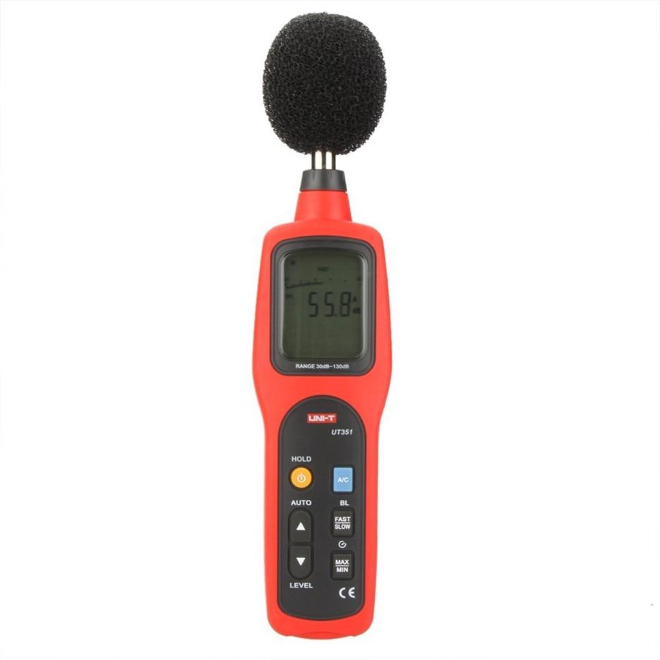 UNI-T digital display decibel sound level meter noise db meter measuring 30 To 130dB noise meter UT351 az8928 digital sound level meter measuring range 40 130db digital noise meter