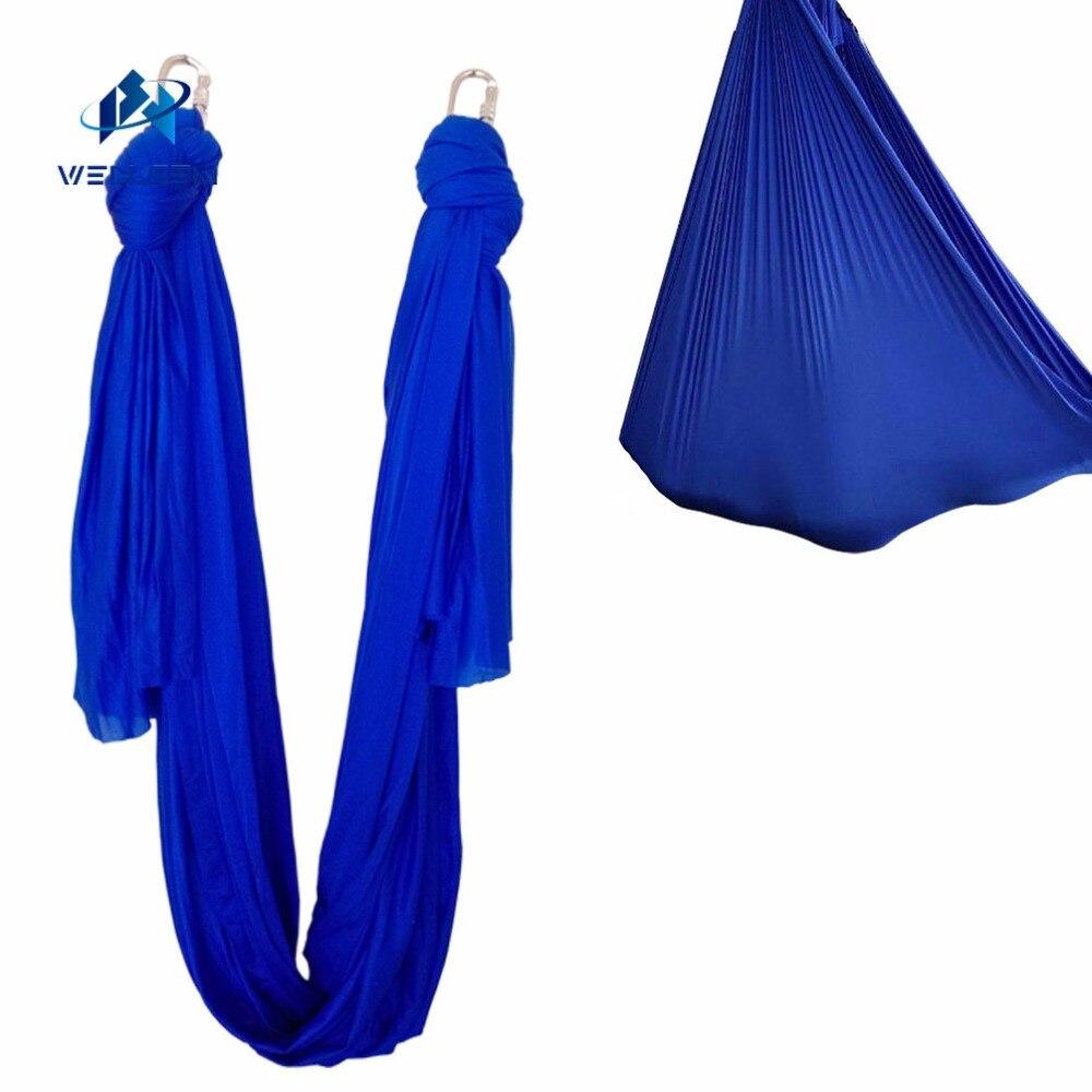 7 mètre longueur tissu Multifonction volant De Yoga Hamac Balançoire Trapèze Anti-Gravité Inversion Aérienne Dispositif De Traction De Yoga ceintures