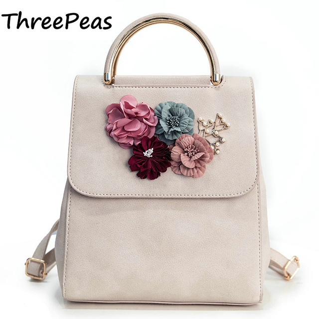 THREEPEAS Fashion Women Backpack Floral Women Shoulder Bag Schoolbag for Girls