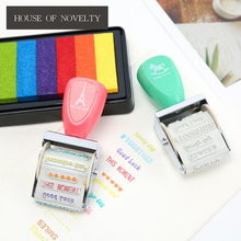 Draw Your Dream Colorful Time Roller Stamp Diary DIY Stamp Set Student Prize Promotional Gift Stationery