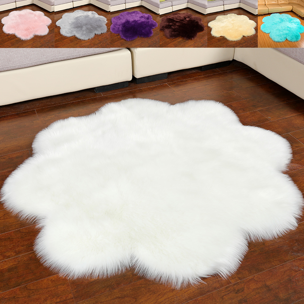 Artificial Sheepskin Shaggy Fluffy Faux Fur Decorative