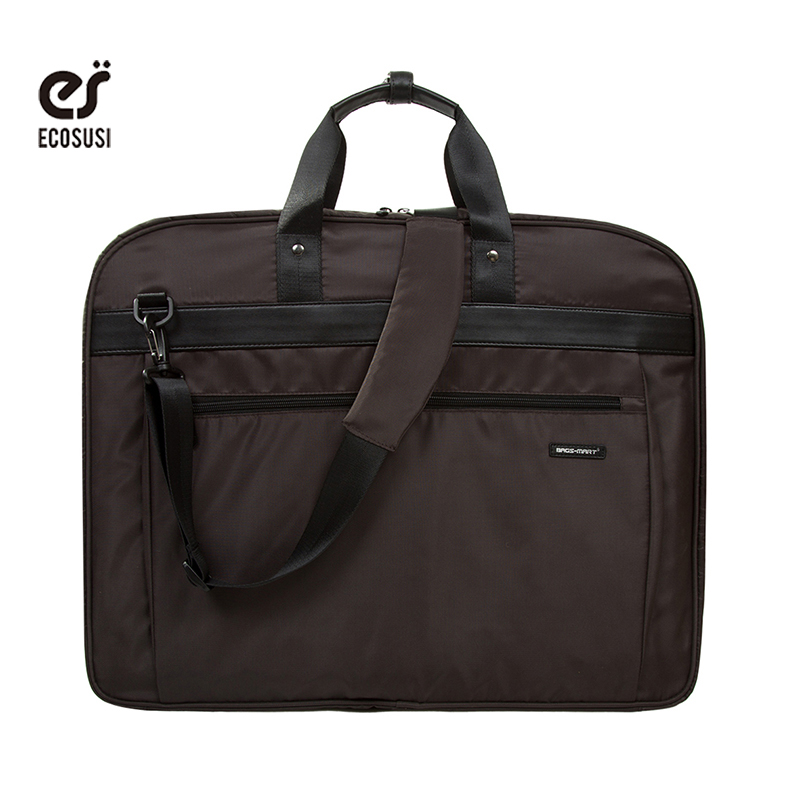 ECOSUSI 2018 Fashion Men Travel Bags For Garment New Design Suit Bag For Dress Suits Ties Clothing Packing BusinessTravel Duffle